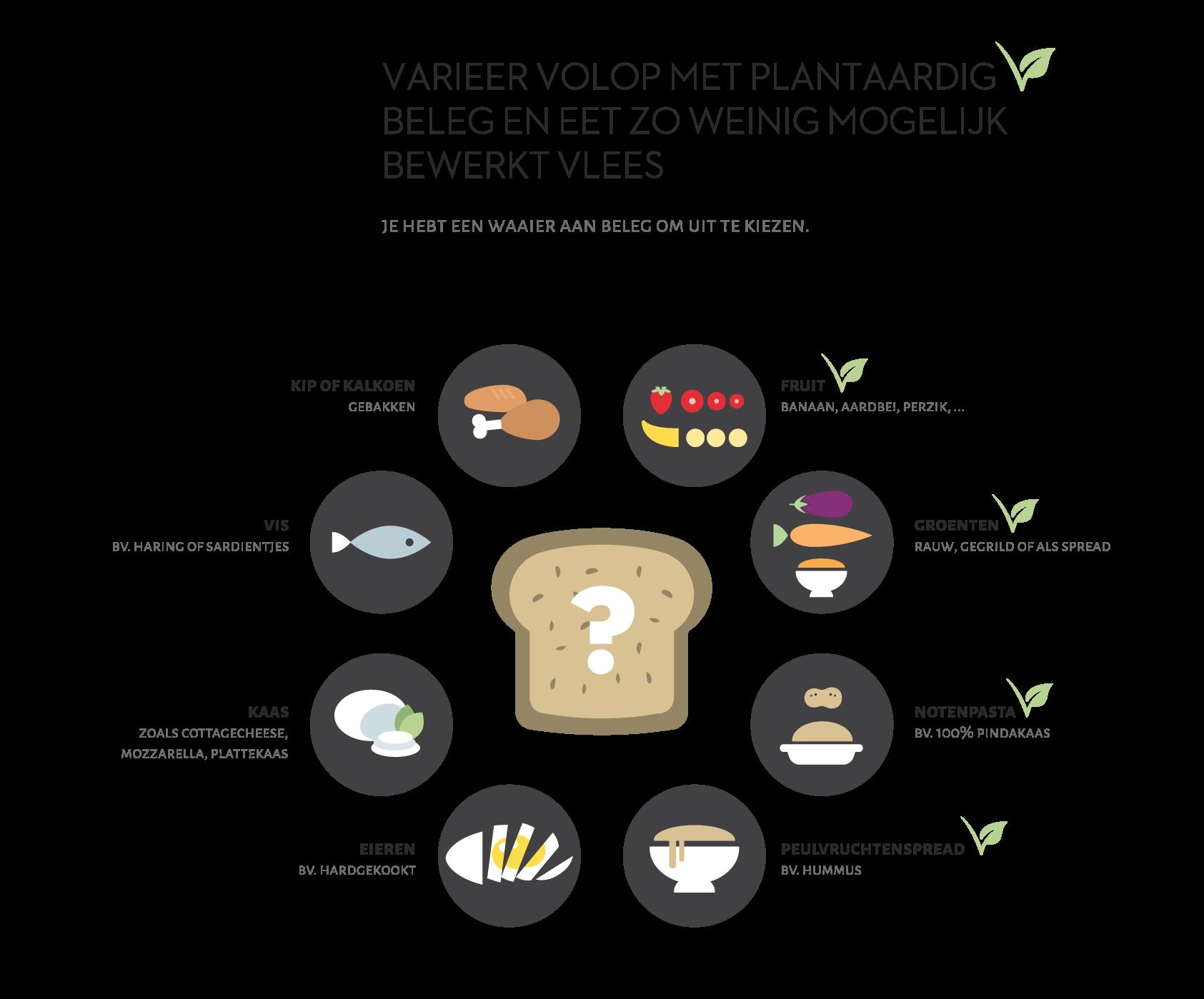 GL infographic vlees VARIEREN plantaardig rgb