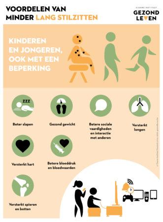 Voordelen minder lang stilzitten kinderen en jongeren met een beperking