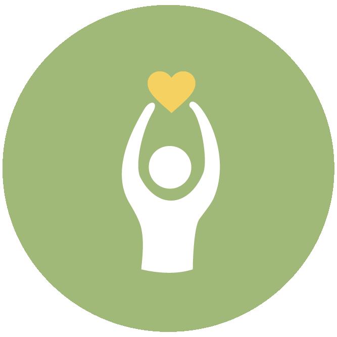 Iconen geluksdriehoek groen Tekengebied 1