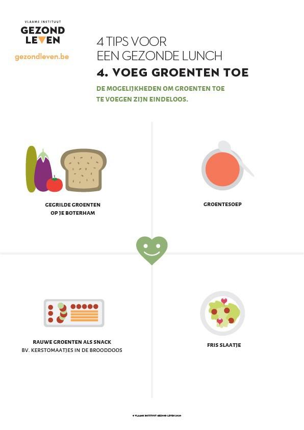 4 Tips Voor Een Gezonde Lunch 4 Groenten